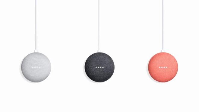 Design of the Google Home Mini, another fabric cover.